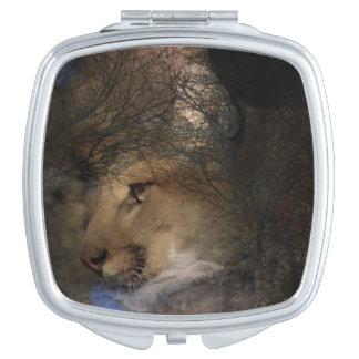 Autumn tree silhouette mountain lion wild cougar makeup mirrors