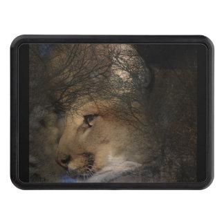Autumn tree silhouette mountain lion wild cougar trailer hitch cover