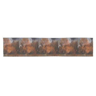Autumn tree silhouette wildlife cougar short table runner