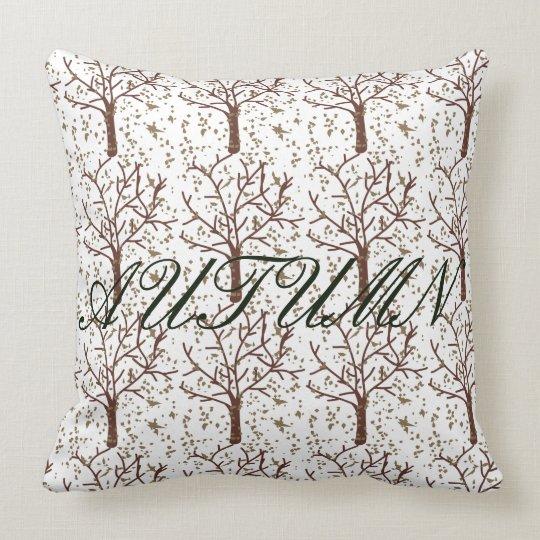 Autumn Tree Throw Pillow