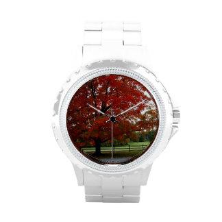 Autumn Tree Wrist Watch