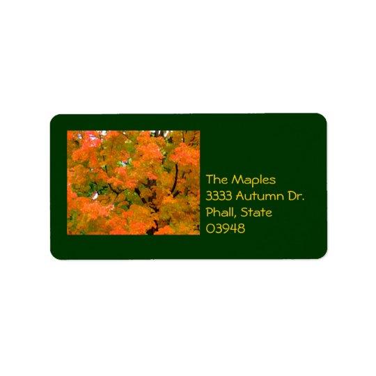 Autumn Trees Address Label