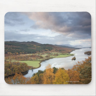 Autumn trees and Loch Faskally, Pitlochry Mouse Pad