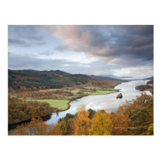 Autumn trees and Loch Faskally, Pitlochry Postcard