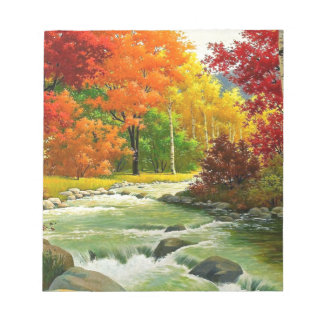 Autumn Trees By The River Notepad