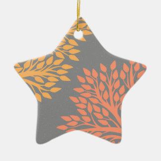 Autumn trees ceramic ornament