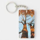 Autumn trees keychain