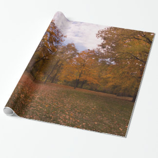 Autumn Trees Landscape Wrapping Paper