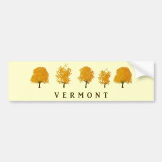 Autumn Trees - Vermont Bumper Sticker