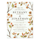 Autumn Trees Wedding Card
