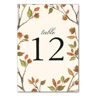 Autumn Trees Wedding Table Cards