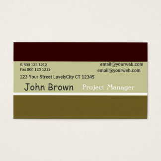 Autumn TriColor Burnt Sage Minimal Professions Business Card