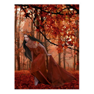 Autumn Tryst Postcard
