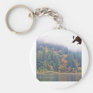 Autumn Umpqua River, Oregon Basic Round Button Keychain