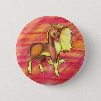 Autumn Unicorn Button