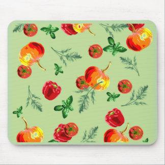 Autumn Vegan Print Mouse Pad