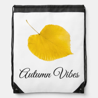 Autumn vibes drawstring bag