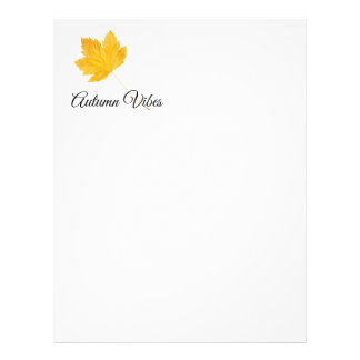 Autumn vibes letterhead