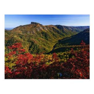 Autumn view of Linville Gorge often called the Postcard