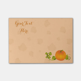 Autumn Vine Pumpkin with Customizable Text Post-it® Notes