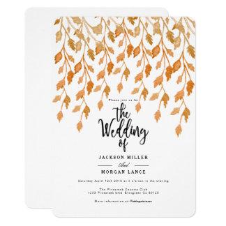 Autumn Vine | Watercolor Wedding Invite