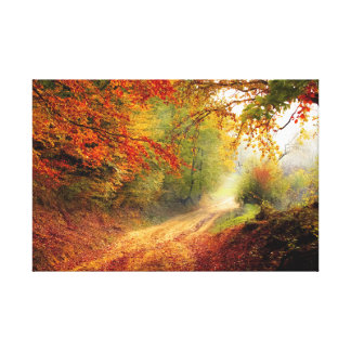 Autumn walk canvas print
