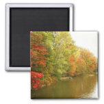 Autumn Water Landscape, Central Park Refrigerator Magnets