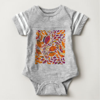 Autumn watercolor leaves baby bodysuit