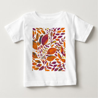Autumn watercolor leaves baby T-Shirt
