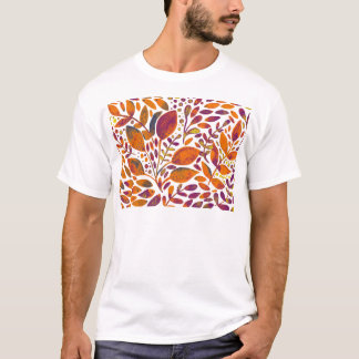 Autumn watercolor leaves T-Shirt