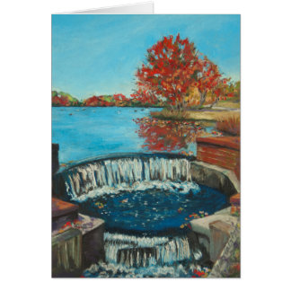 Autumn Waterfall, Brookwood Hall Card