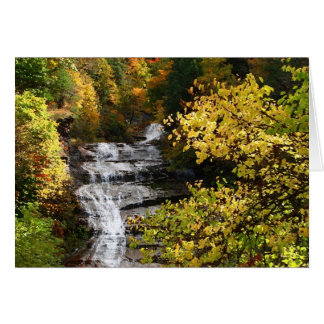 Autumn Waterfall Card
