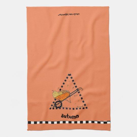 Autumn Wheelbarrow Kitchen Towel