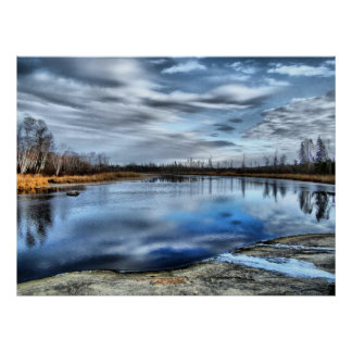 Autumn Whiteshell River Poster
