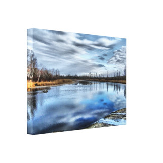 Autumn Whiteshell River Reflections Canvas Print