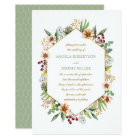 Autumn Wildflower Watercolor Wedding Sage Card