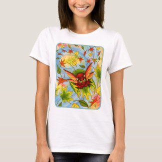 Autumn Winds Fairy Cat Fantasy Art Shirt