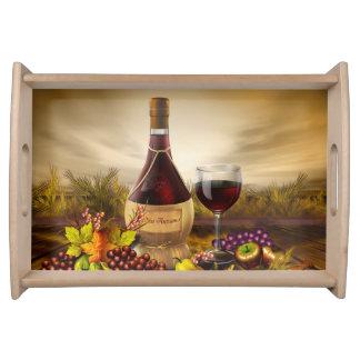 Autumn Wine Tray Serving Platter