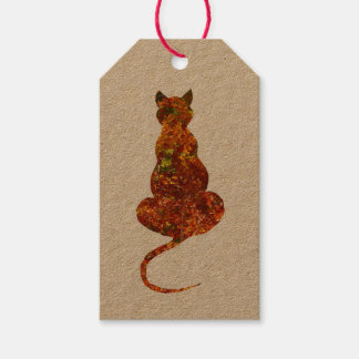 Autumn/winter Cat Gift Tags
