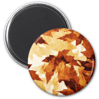 Autumn winter Leafs natural natural  Green Trees E 2 Inch Round Magnet