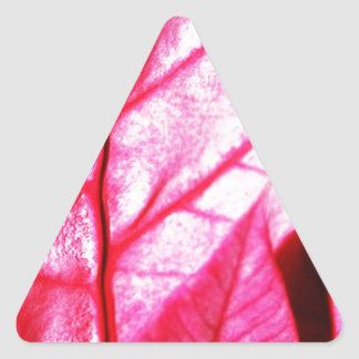 Autumn winter Leafs natural natural  Green Trees E Triangle Sticker