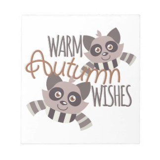 Autumn Wishes Notepads