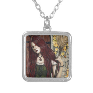 Autumn Witch Gothic Fantasy Art Necklace