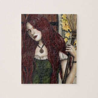Autumn Witch Gothic Fantasy Art Puzzle