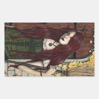 Autumn Witch Gothic Fantasy Art Stickers