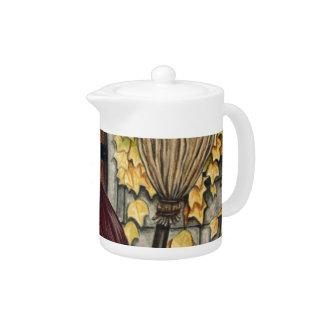Autumn Witch Gothic Fantasy Art Teapot