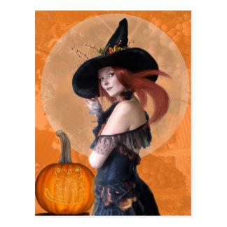 Autumn Witch (Postcard) Postcard