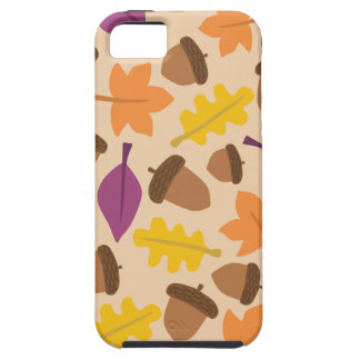autumn with acorn and oak leaves iPhone 5 covers