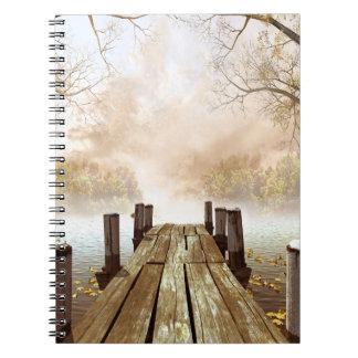 Autumn Wooden Pier Notebook
