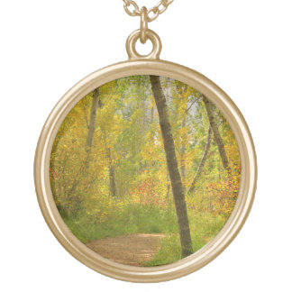 Autumn Woodlands Gold Plated Necklace
